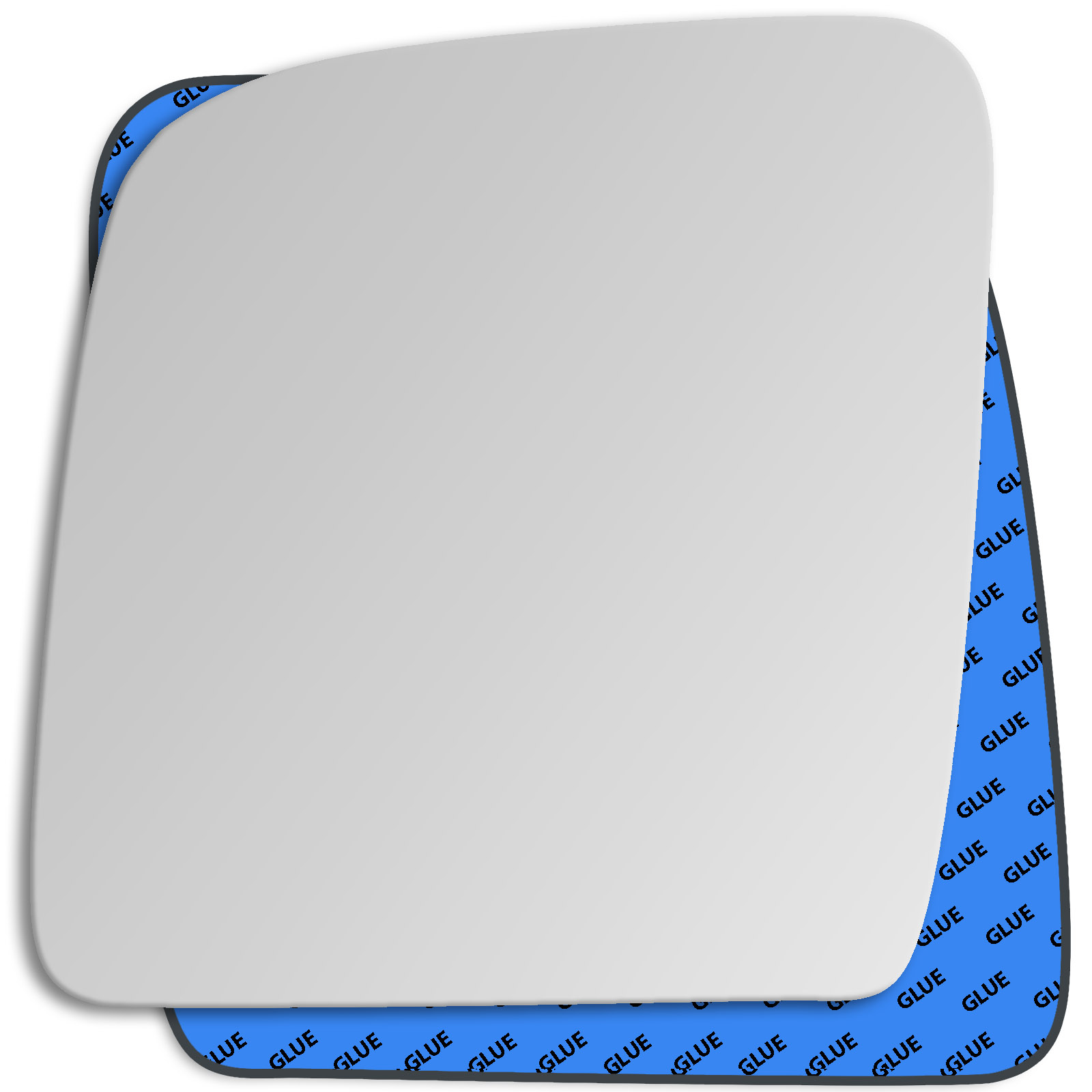 Passenger Side CONVEX WING MIRROR GLASS Ford Transit Connect 2002-2009 Stick On