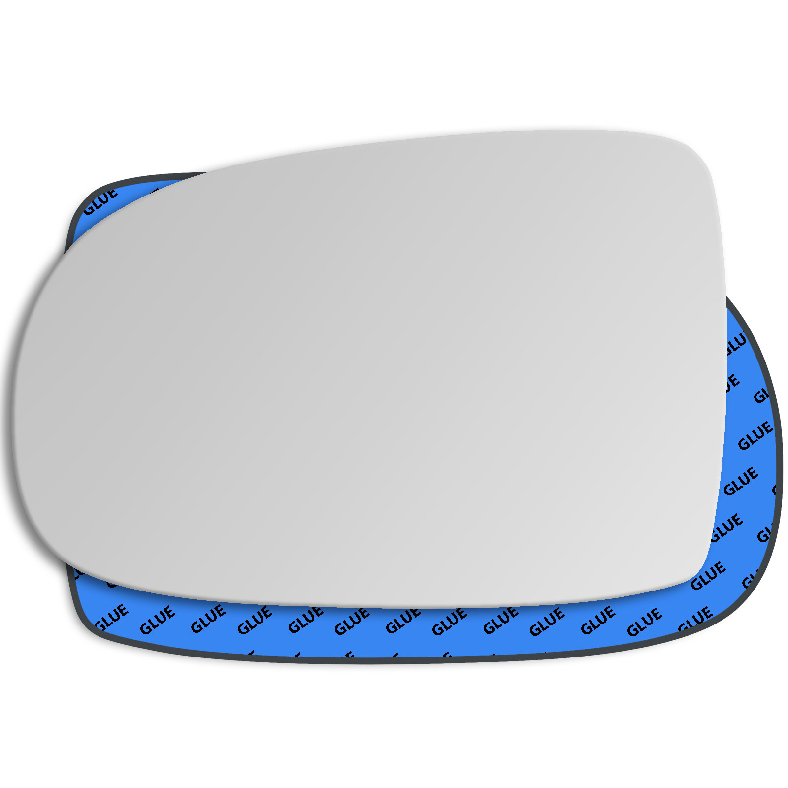 LH REPLACEMENT MIRROR GLASS WITH BASE PLATE TO FIT Vauxhall Corsa 06