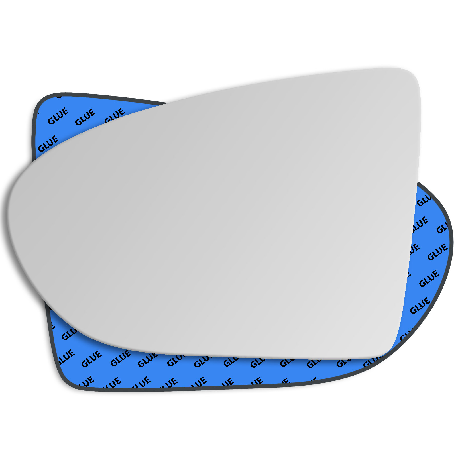 HIGHTECPL 348RS Right Driver Side Convex Door Wing Mirror Glass