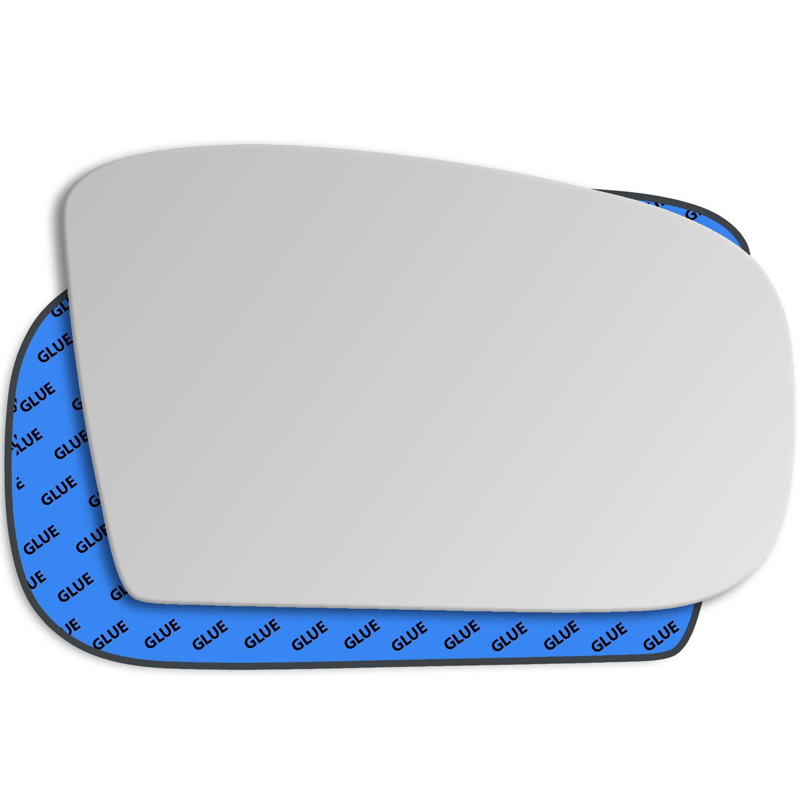UK Left Passenger Side Blue Mirror Glass for Mercedes C Class W203 2000-2007